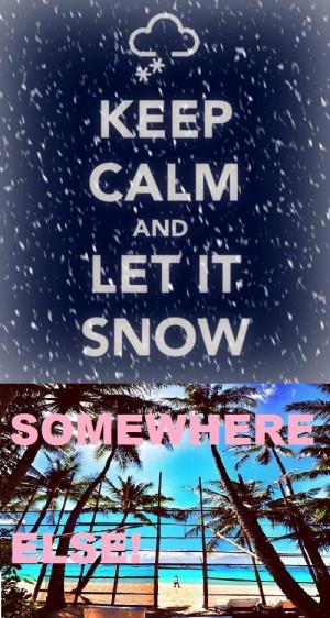 hate snow...