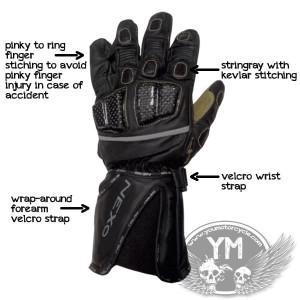 Home / Motorcycle Gloves / NEXO Kangaroo Leather Motorcycle Gloves