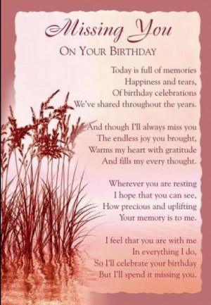 Happy Birthday Mom, I love you & Miss You