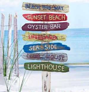 beach sign yard stake from RSH