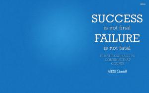 Winston Churchill inspirational quote wallpaper
