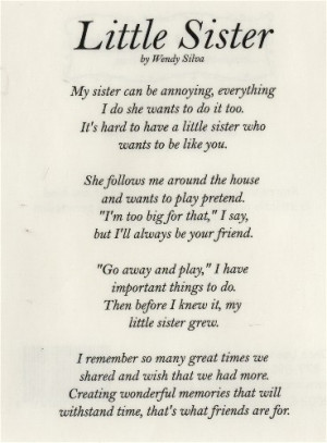 Happy birthday sister poems baby sister