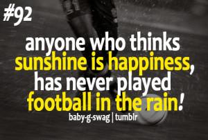 Football in the rain