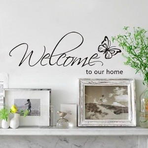 New DIY Quote Removable Vinyl Decal Wall Stickers Home Decor Welcome ...