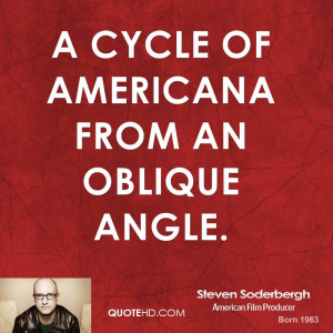 cycle of Americana from an oblique angle.