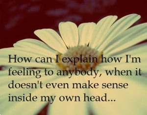 Quotes About Sadness and Confusion | Does t even make sense inside my ...