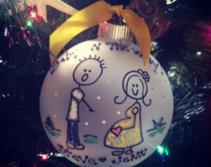 OMG Baby on the Way FUNNY Personalized EXPECTING Ornament for the New ...