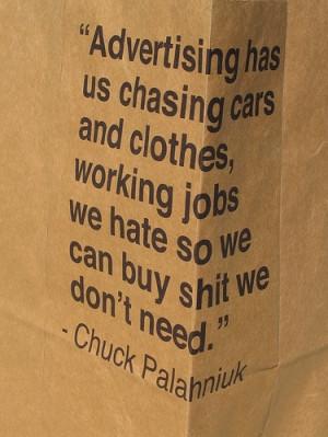 , chuck palahniuk, fight club, lyrics, message, paper, quote, quotes ...