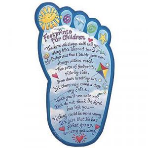 Footprints for Children Plaque (#33223)