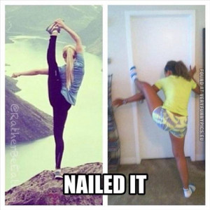 funny picture yoga nailed it