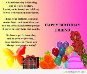 Birthday Quotes Friends Inspirational ~ Happy Birthday Friend ...