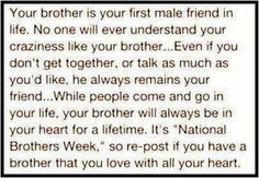 no lie this is so me and my older brother! this family sticks together ...