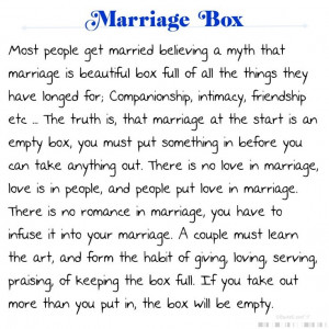 Marriage Box Poem: Inspiration, Quotes, Marriage Boxes, So True ...