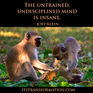 The untrained, undisciplined mind is insane.