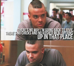 Glee Puck's one-liners