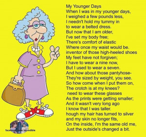 Getting older - This is adorable!!