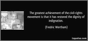 The greatest achievement of the civil-rights movement is that it has ...