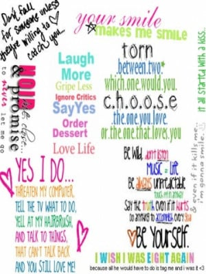 Girly Quotes Wallpaper