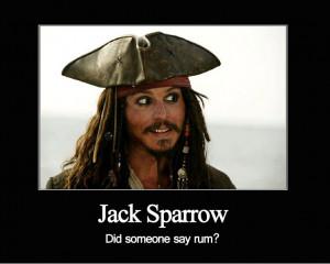 Captain Jack Sparrow Rum?
