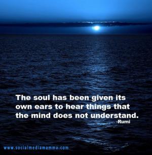 Inspirational quote Rumi inspiring quotes