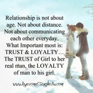Quotes About Trust In A Relationship Relationship is not about age
