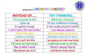 Our work on Growth Mindsets is based on the research of Carol Dweck.
