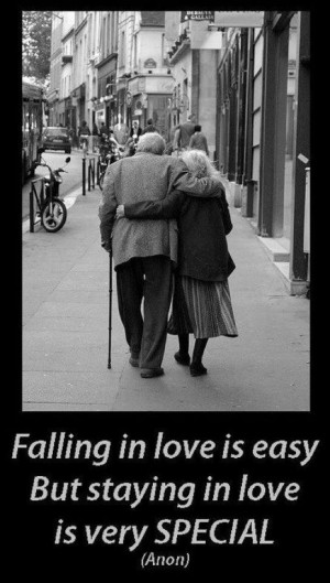 Falling in love is easy but staying in love is very special.