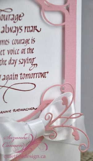 Breast Cancer Quotes Courage Doesn T Always Roar Sometimes