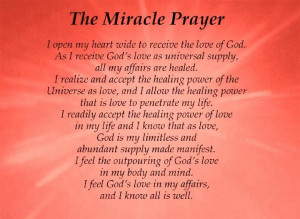 Prayer Quotes The Miracle Prayer