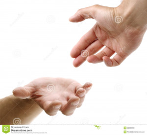 Hand Reaching For Credited