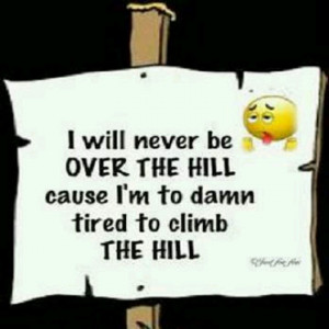 Over the hill..