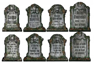 tombstone cutouts set of 4 16 code dcts 4 funny halloween tombstone ...