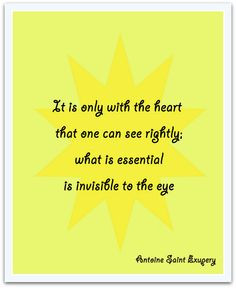 Little Prince quote poster It is only with by TranquilityPrints, $12 ...
