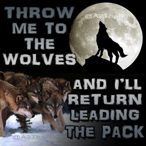 ... the wolves and i ll return leading the pack pic twitter com f78sp4cwnu