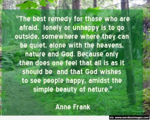 Simple beauty of nature quote