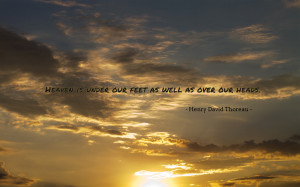 Heaven is under our feet... quote wallpaper