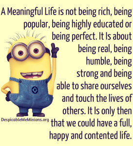 Minion Quotes A Meaningful Life