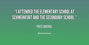 ... the elementary school at Schweinfurt and the secondary school