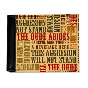 Abide Gifts > Abide Wallets > Big Lebowski Dude Quotes Mens Wallet