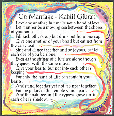 On Marriage Kahlil Gibran magnet - Heartful Art by Raphaella Vaisseau