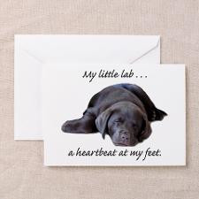 Chocolate Lab Heartbeat Greeting Cards (Package of for