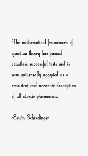 Erwin Schrodinger Quotes & Sayings