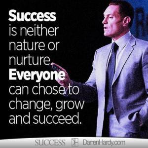 ... | change | grow | entrepreneur | success magazine | darren hardy