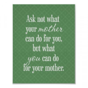 For Your Mother Artwork - Green