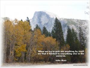 John Muir Quote Yosemite National Park