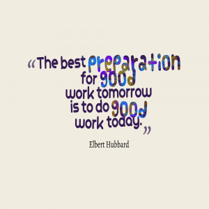 Good Work Quotes