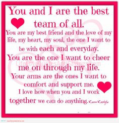 Thank You Quotes And Sayings | You and I are the best team of all ...