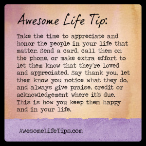 Awesome Life Tip: Keep Good People In Your Life