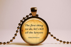 Shakespeare Quote Pendant, Inspirational Quote Necklace, Shakespeare ...