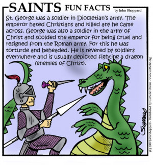 Saints Fun Facts for St. George